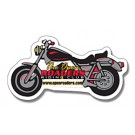 Magnet - Motorcycle Shape (4.25x2.25) - Outdoor Safe