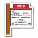 Magnet - Real Estate Sold Sign Shape (2.25x2.75) - Outdoor Safe