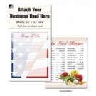 "Magnetic Business Card Note Pads-""Flag""- ""Things to do"""