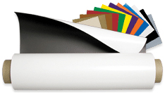 "24"" Wide Magnet Sheeting Matte & Gloss White Vinyl"