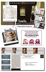 Magna-Peel Postcard (10.5x5.5) with 3 Perforated Coupons and 3.5x4 Magnet