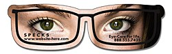 Magnet - Eyeglasses Shape (4.3125x1.25) - Outdoor Safe