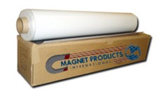 "Flexible Magnet Sheeting 30milx39.5""x50F  Adhesive-non magnetic and Vinyl-white matte-magnetic side"