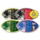 Magnet Sport Schedules - Football Shape (7x4) - 25 mil.