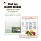 "Magnetic Business Card Note Pads-""Green House""- ""Things to do"""