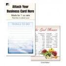 "Magnetic Business Card Note Pads-""Clouds""- ""Things to do"""