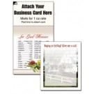 "Magnetic Business Card Note Pads-""House with Fence"""