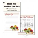 "Magnetic Business Card Note Pads-""Grocery List w/Lines"""