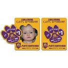 Magnet - Picture Frame Paw Print Punch (3.5x4.5) - Outdoor Safe