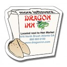 Magnet - Chinese Food Box Shape (2.75x2.625) - 25 Mil.