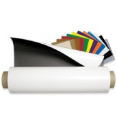 "Flexible Magnet .030"" X 24.375"" X 50' Matte White Vinyl"